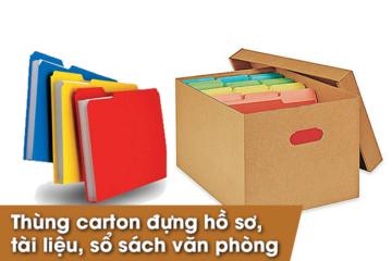 Hộp carton đựng tài liệu, hộp carton đựng hồ sơ văn phòng