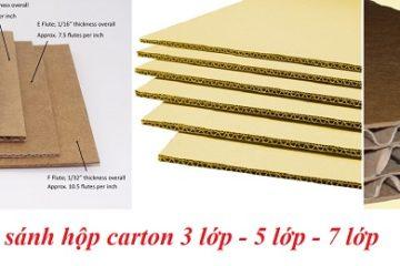 So sánh hộp carton 3 lớp, 5 lớp, 7 lớp – Loại nào tốt hơn