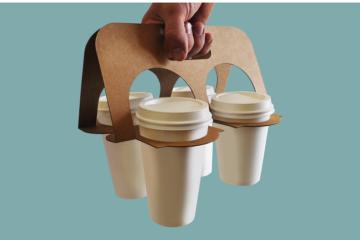 In hộp giấy, túi giấy, khay giấy đựng cafe mang đi