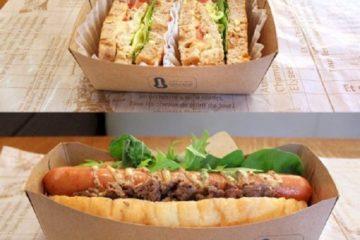 Khay giấy đựng thức ăn mang đi, thức ăn nhanh