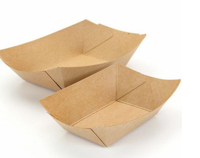 khay giấy đựng thức ăn